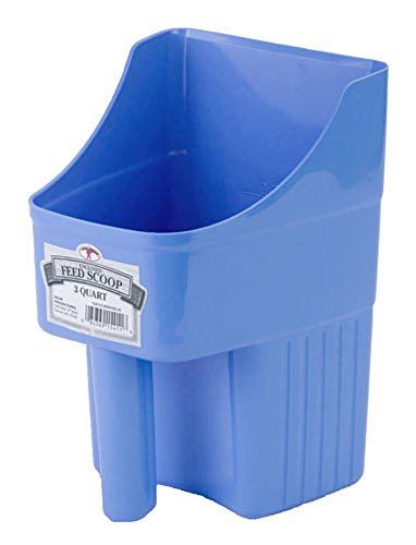 LITTLE GIANT Miller Mfg. Enclosed Feed Scoop 3 Quart - Berry Blue