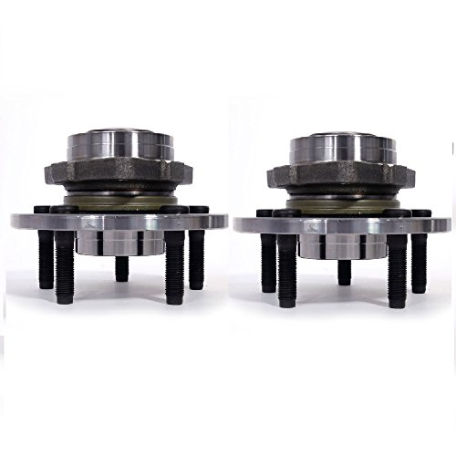 Pickup 1500 Hub (Front Wheel Hub Bearing Assembly 5 Lugs for 02-08 Dodge Compatible with 515072, Set of 2)