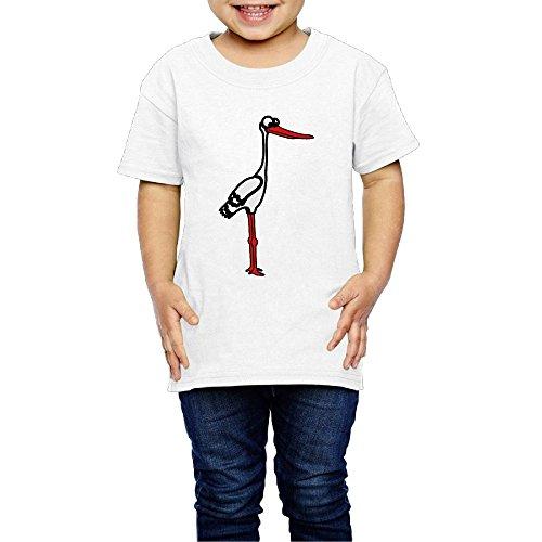 Silver Bullet Spring T-Shirt Stork Rattle Stork T-Shirt,Baby T-Shirt,Child T-Shirt,Bird T-Shirt,Grew Up T-Shirt2 Toddler For Child