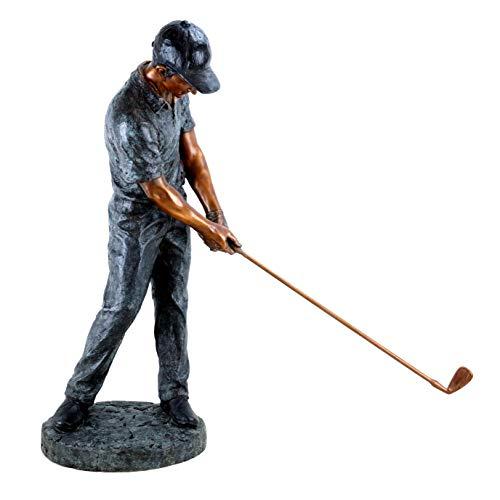 Kunst & Ambiente - Contemporary Sculpture - XXL Golfer - Limited - Tall Golf Player Statue Martin Klein - Height: 85.0 cm - Bronze Figurine Sale - Golf Sport