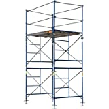 Metaltech Saferstack Complete Fixed Scaffold Tower - 5ft.W x 7ft.D x 10ft.H, 2-Sections, Model# M-MFT5710A