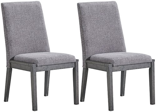 Signature Design By Ashley - Besteneer Dining Upholstered Side Chair - Set of 2 - Contemporary Style - Dark Gray (Four Dining Designs Chair Table)