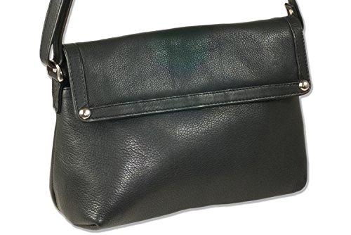 Platino - borse da donna di lusso realizzati dei migliori non trattata, in morbida pelle nera con