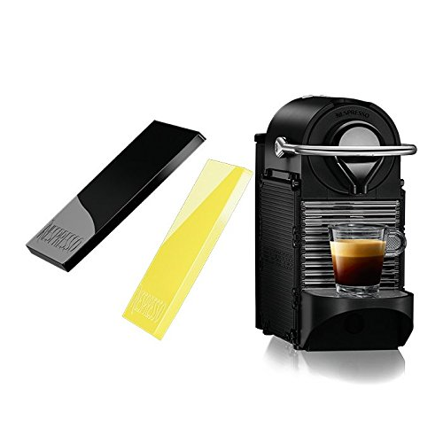 Nespresso Pixie Clips C60 Espresso Machine with Interchangeable Black and Lemon Neon Panels