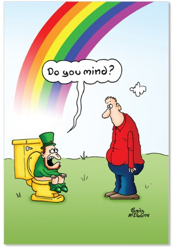 Funny St Patricks Day Card - 5333 'Rainbow Toilet' - Funny St. Patrick's Day Greeting Card with 5