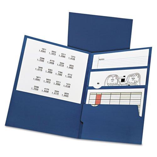 Oxford 57401 11 x 8.5 Divide It Up Four-Pocket Paper Folders - Navy
