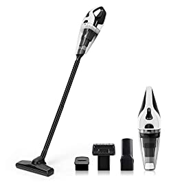 APOSEN Cordless Vacuum Cleaner 5 in 1 Wet & Dry Handheld Vacuum Ultra Lightweight 14.8V Lithium with Quick Charge Tech Stick Vacuum for Hard Floor A7S Black