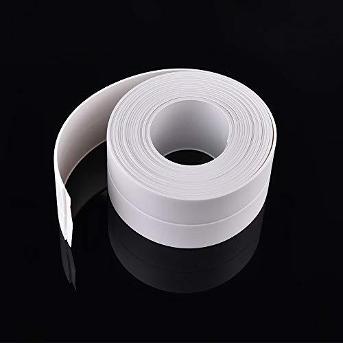 LoLa Ling 1 Roll PVC Bath Wall Sealing Strip Waterproof Mold Proof Adhesive Kitchen Sink Basin Edge Trim Tape Self Adhesive Bath -