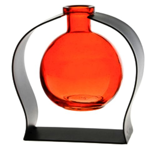 Orange Glass Vase - 9