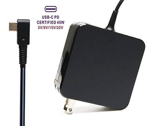 Adaptador de cargador de pared portátil de 45 W tipo C PD para HP Spectre x360 13 HP; DELL XPS 12 XPS 13 9350 XPS 15 9550;...