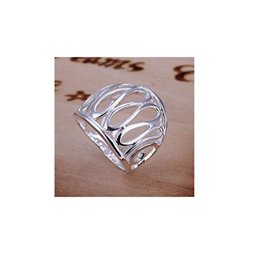 HOT 925 sterling silver jewelry thumb hollow ring size 8