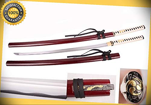 Full Tang 1045 High Carbon Steel Handmade Japanese Katana Sword NEW perfect for cosplay outdoor camping