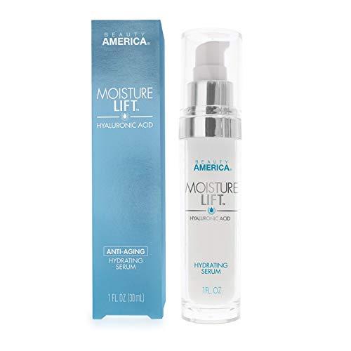 Beauty America Moisture Lift, Anti-Aging, Hyaluronic Acid, Hydrating Serum, 1 Fl Oz (Best Anti Aging Serum For 30s)