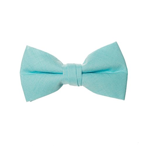 Born to Love - Boys Kids Adjustable Bowtie Easter Outfit Party Dress up 4 Inches (teal linen) by Born to Love