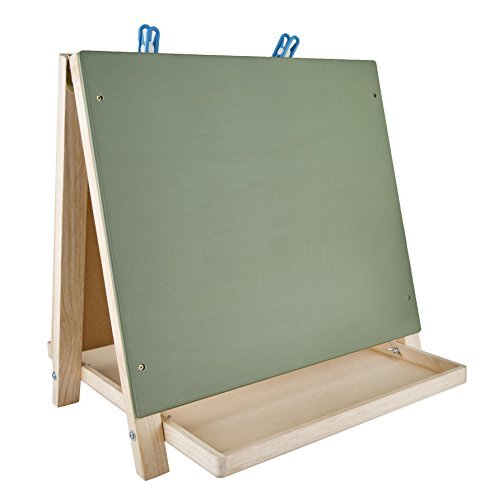 - CP Toys Table Top 3-way Easel with Chalkboard, White Board and 2 Clips