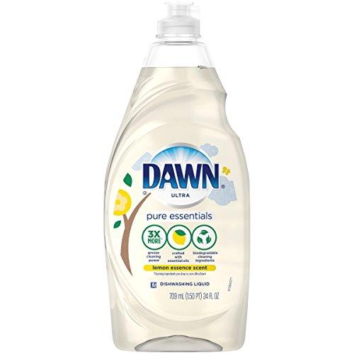 (Dawn Pure Essentials Lemon Essence Dishwashing Liquid, 24 Fl)