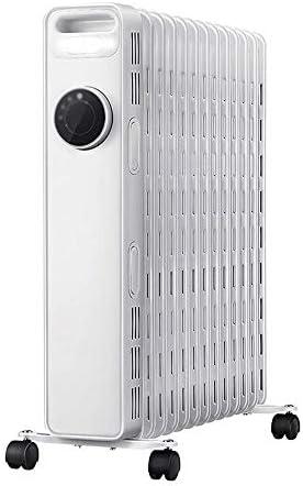 Minmin ヒーター、電動オイルヒーター/ヒーター/電気ヒーターの世帯13個 屋内 (Color : Silver)