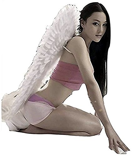 (SUKIYAKI Large Angel Wings Costume Adult Feather Costume Cosplay)