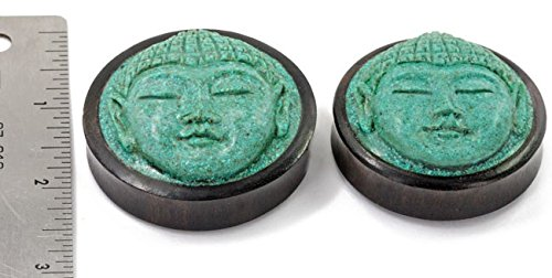 14mm Carved Turquoise Buddha Face Organic Jewelry 50mm Price Per 1
