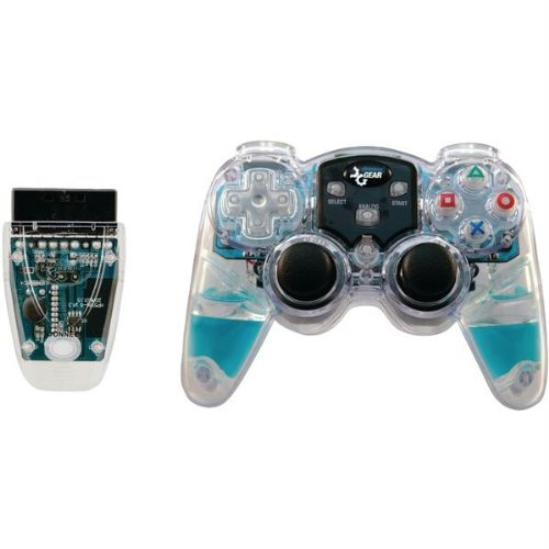 DREAMGEAR DGPN-524 PlayStation(R)2 Lava Glow Wireless Controller (Blue) (DGPN-524) (Controller Lava Glow)