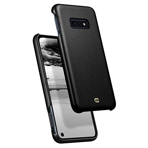 Leather Plain Basic - Ciel by CYRILL [Basic Leather Collection] Designed for Samsung Galaxy S10e (2019) Case - Black