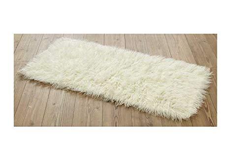 Shaggy Flokati Griechische Teppiche Elfenbein Farbe, von Rugs & Stuff – 1500 GSM – 4 Größen erhältlich, Wolle, Beige, 90 x 160cm