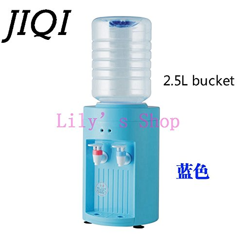 DMWD MINI warm hot Drink Machine 2.5L electric Cold Drink water Dispenser Desktop bottles tap faucet fountains small home office (Blue/This machine does not include drinking water bottle, you can buy one at the local market, the bucket below 5L can be use