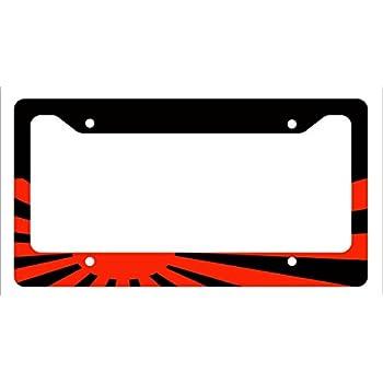 Amazon.com: Japenese Flag Funny Car License Plate Frame JDM Stance ...