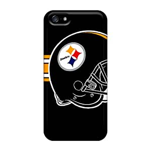 Protector Cell-phone Hard Cover For Iphone 5/5s With Support Your Personal Customized Lifelike Pittsburgh Steelers Image ErleneRobinson