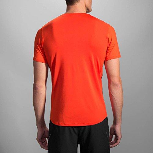 BROOKS MOVING COMFORT MEN'S STEADY SHORT SLEEVE RUNNING SHIRT (L) (DESERT)