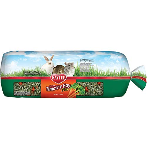 Kaytee Timothy Hay Plus, Carrots, 24-Ounce, Standard Packaging (50 Lb Bag Of Guinea Pig Food)