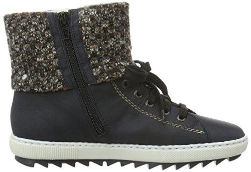 Rieker pazifik terra Femme Y8443 Hautes Bleu 14 Sneakers rwPrqaz