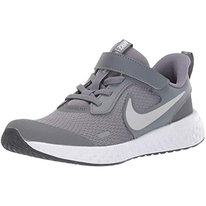 Nike Unisex-Child Revolution 5 Pre School Velcro Running Shoe