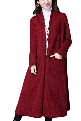 coloré Poches Des D'extérieur Printemps De Coton Taille Noir Rouge Oudan Femmes M Occasionnel D'automne Manteau Avec RXvnxP