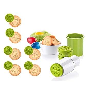 sadqwdf - Juego de 6 moldes para Cortar Galletas, diseño de Dibujos Animados en 3D, para Cocina, Hornear, Galletas de Navidad: Amazon.es: Hogar
