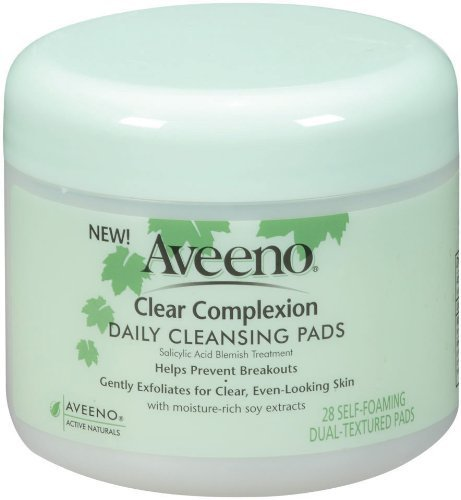 Daily Cleaning Pads - Aveeno Active Naturals Clear Complexion Daily Cleansing Pads, 28 Count (Pack of 4)