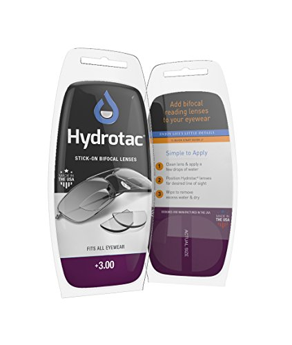 Hydrotac Stick-on Bifocal Lenses (OPTX 20/20)- +3.00 Diopter