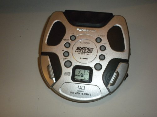 Panasonic Shockwave Portable Compact Disc Player SL-SW850 (Silver) (Shockwave Player Panasonic Cd)