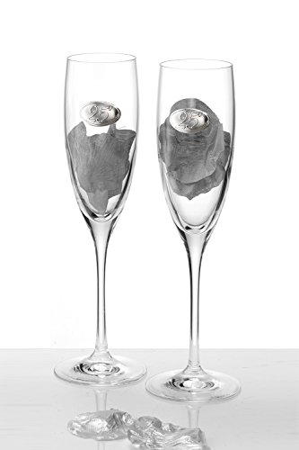 Acca, Set of Two 25th Anniversary Champa - Sterling Silver Champagne Flutes Shopping Results