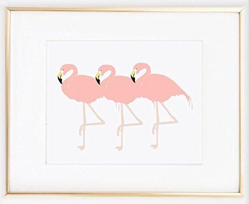 flamingos Illustration Fashion Bedroom UNFRAMED product image