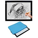 Vincilee A4 LED Tracing Light Box Tracing Tablet Ultra-thin Portable LED Light Box Tracer USB Power Cable LED Artcraft Tracing Light Pad Tracing Board for Drawing Sketching Animation Stencilling X-ray