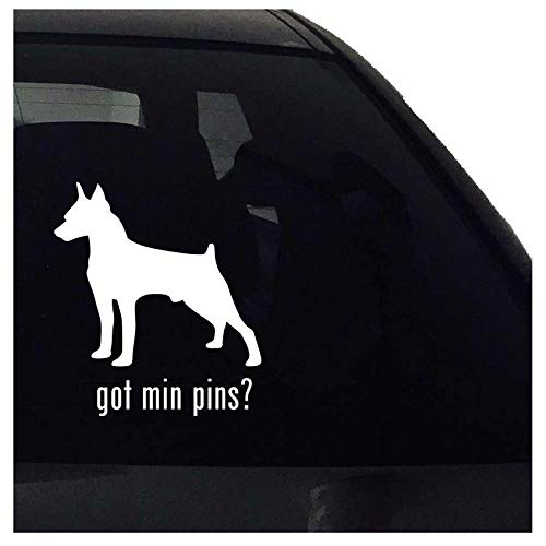 BYRON HOYLE got min pins? Mniature Pinscher Dog Decal - Car Window Bumper Laptop - Decal Vinyl Sticker - Airedale Vinyl Decal