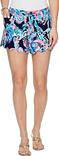 Lilly Pulitzer Women's Buttercup Stretch Twill Shorts Bright Navy Caught Up 6