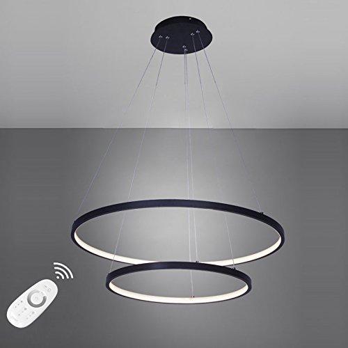 Dimmable geführt hat die Licht 50 W-Anhänger modernes Design Ring besonderes für Büro Showroom, Wohnzimmer, schwarz, Warm Weiß