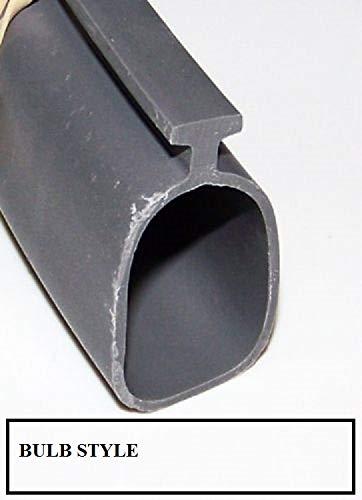- Durable Vinyl Garage Door Bulb Bottom Seal. Length: 12' Foot