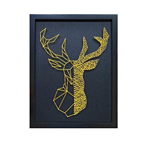 Home Decoration DIY Thread Winding Three-Dimensional Gold Deer Decorative Painting, Mural DIY Material Package Decompression Desktop Decoration Decorations, Parent-Child Manual Interactive Game by Home Decoration (Image #9)