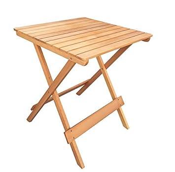 Havnyt Table de Jardin Pliante carrée en Teck 60 x 60 cm ...