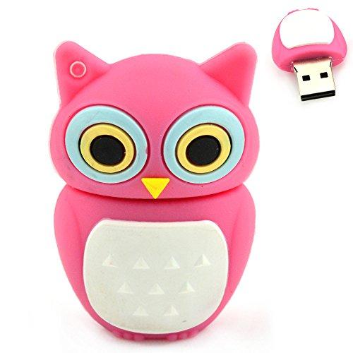 8GB Cute PVC Owl USB Flash Disk (Rose)