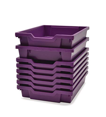 F0105 - Description : Shallow F1 Tray Plum Purple - Shallow F1 Tray Plum Purple - Each