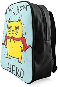 Cartoon Cute Cat With English Words Backpack For Girls Fashion School Bag Casual Travel Bag Print Zipper Students Unisex Adult Teens Gift